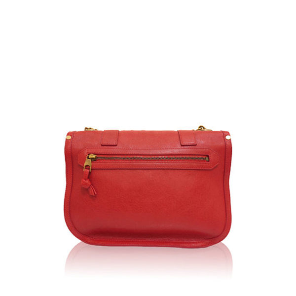【PROENZA SCHOULER】復古 金鏈小羊皮肩包 (口紅色)  H00043 L001B 3017