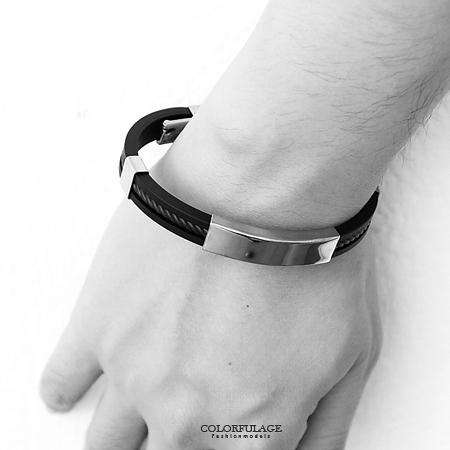 矽膠手環  簡單素面白鋼螺旋紋造型手環 潮流百搭人氣手鍊 繽紛配色【NAB10】單條