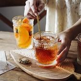 金邊玻璃杯茶葉杯果汁牛奶飲料杯筆筒化妝刷桶【輕奢時代】