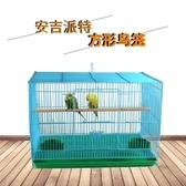 鳥籠大號鸚鵡八哥繡眼百靈虎皮鴿子鳥通用鳥籠子金屬養殖籠特大號 ☸mousika