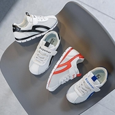 兒童運動鞋2021春秋新款男童小白鞋女童網鞋透氣阿甘鞋時尚板鞋 幸福第一站