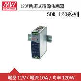 MW明緯 SDR-120-12  12V軌道型電源供應器 (120W)