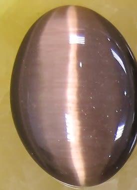 協貿國際]咖啡色貓眼石橢圓形戒面DIY手工飾品配件(10入價)