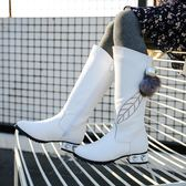2018女童新款馬靴高筒靴兒童過膝靴百搭時尚防滑耐磨表演童鞋學生『櫻花小屋』