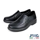 【IMAC】義大利牛皮輕量抗震休閒氣墊鞋  黑色(101301-BL)