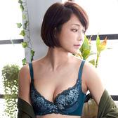 【華歌爾】摩奇 雙挺胸罩D-E罩杯調整型內衣(墨石綠)