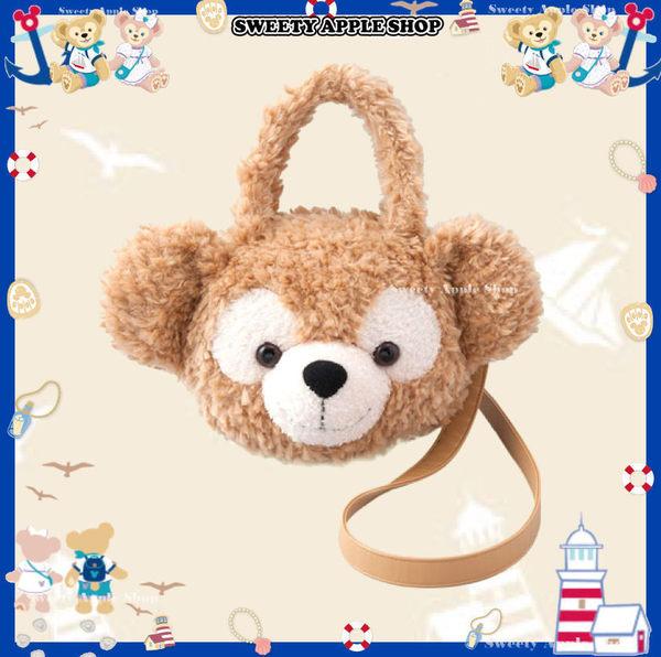 (現貨&樂園實拍) 東京迪士尼限定 DUFFY 達菲 大臉 絨毛 背帶 2way 手提包 / 側肩包