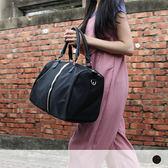 旅行│簡約大方金邊尼龍旅行袋-DORAM