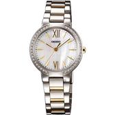 ORIENT 東方錶 DRESS 美漾都會時尚女錶-珍珠貝x雙色版/30mm FQC0M003W