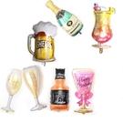[拉拉百貨]香檳 酒瓶 酒杯 啤酒 威士忌 雞尾酒 鋁膜氣球 生日氣球 求婚 生日 公司慶祝 派對小物