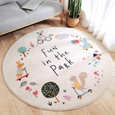 100*100cm 圓形地毯臥室可愛床邊墊加厚兒童地墊房間地毯