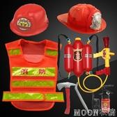 兒童萬圣節消防服馬甲反光衣背心消防員玩具水槍演出服錶演服裝 moon衣櫥