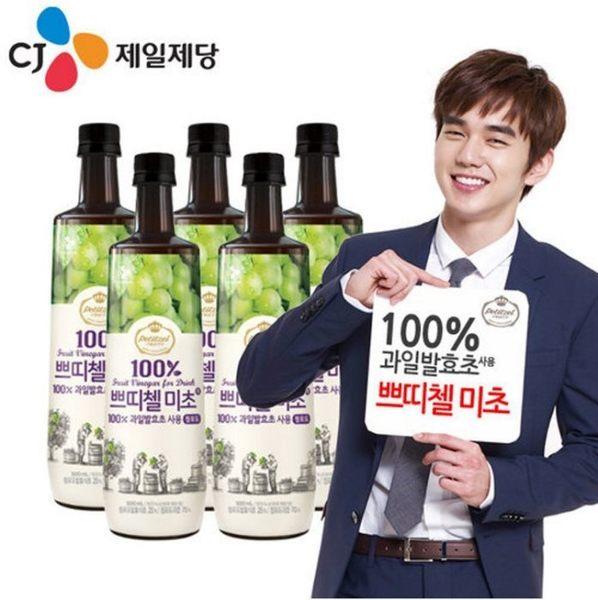 韓國 CJ 青葡萄果醋 (500ml/瓶) 金秀賢 俞承豪 大推 進口食品 ◎花町愛漂亮◎