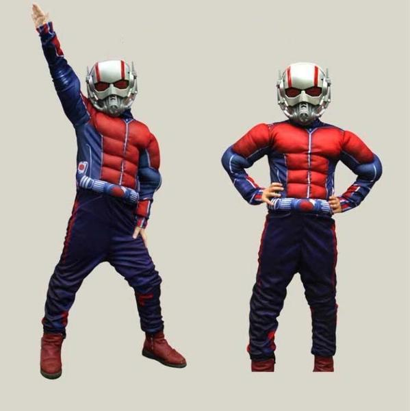 衣童趣(•‿•)萬聖節 英雄造型 兒童表演服裝 肌肉蟻人 角色扮演 Cosplay 派對服 幼兒園變裝