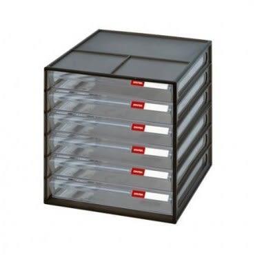 【nicegoods】六層桌上資料文件櫃(6低抽)-黑