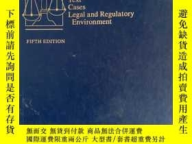 二手書博民逛書店WESTS罕見BUSINESS LAW TEXT CASES LEGAL AND REGULATORY ENVIR