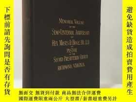二手書博民逛書店【作者簽名本】1895年罕見英文   Fifty Years a Pastor 棕色布面精裝Y183807 H