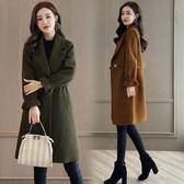 風衣大衣外套中長原宿風百搭女裝矮個子韓國呢子大衣潮-大小姐韓風館