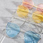 太陽眼鏡 太陽鏡金屬女潮錬條側面翅膀墨鏡眼鏡 台北日光