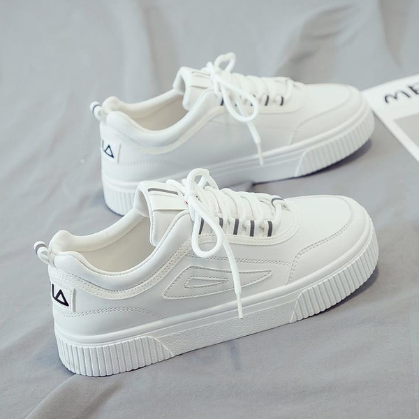 帆布鞋 2021爆款新款小白潮鞋女春季百搭學生帆布休閒運動白鞋板鞋ins潮 【618 大促】
