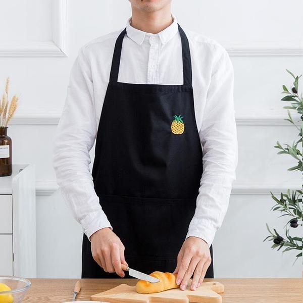 韓版時尚圍裙定制印字LOGO廚房做飯圍腰