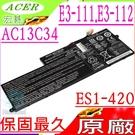ACER AC13C34 電池(原廠)-宏碁,E3-111,E3-112,ES1-111, ES1-111-C188,ES1-111-C827, 3UF426080-1-T1000,KT.00303.005