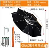 佳釣尼台釣魚傘大釣傘地插加厚萬向雙層防雨風防曬遮太陽垂釣漁傘【伏魔專利傘】