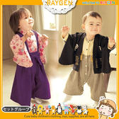 日單秋冬款長袖女寶紫色浪漫櫻花和服/男寶日本武士和服