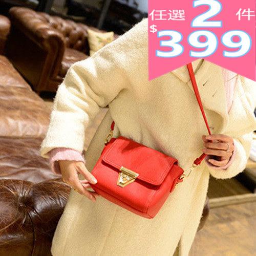 斜背側背包 簡約三角轉扣時尚韓版潮流小包包 JB-08628系列-寶來小舖 Bolai shop(現貨販售)