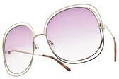Chloe 太陽眼鏡 CE126S 803 (銀-漸層粉鏡片) 小臉微方大框款 墨鏡 # 金橘眼鏡