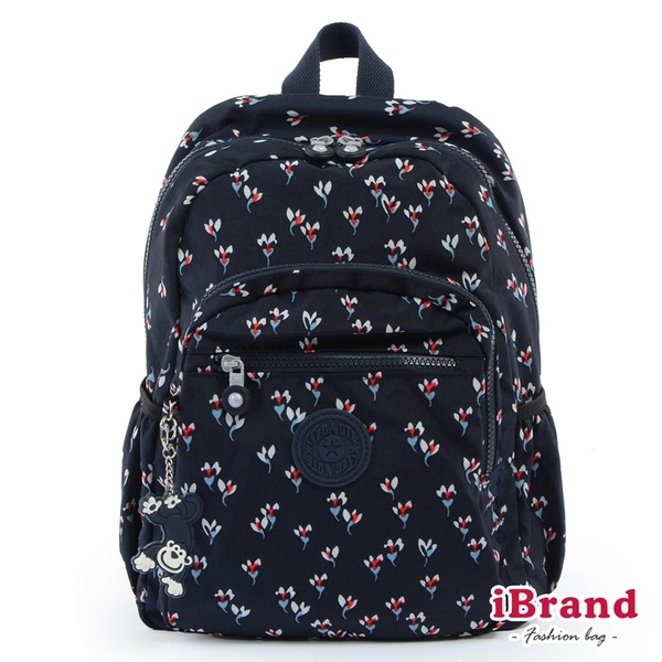 iBrand後背包 趣味派對尼龍口袋後背包-小碎花 TGT-1318-23