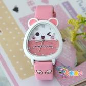 兒童指針錶 兒童手錶 女孩 卡通兒童運動手錶 韓國時尚防水女童學生手錶 6色