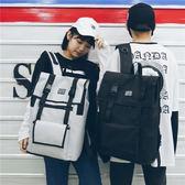 電腦包 港風情侶大容量雙肩包男新款韓版校園休閒旅行書包15.6電腦背包女  朵拉朵衣櫥