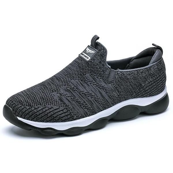老人鞋男秋冬防滑男鞋軟底