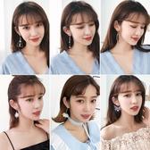 2對韓國氣質耳釘耳環女珍珠耳墜長款個性簡約【聚寶屋】