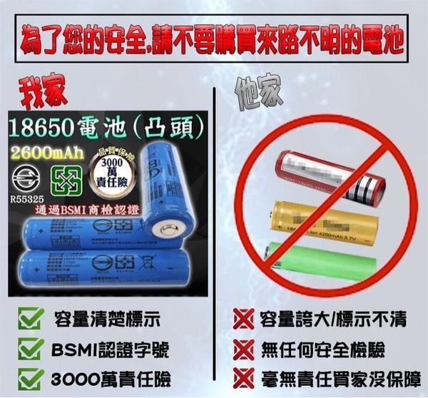 27018-137-柚柚的店【藍色2600凸頭版電池 +直充】L2美國CREE強光魚眼變焦手電筒