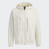 ADIDAS Woven Jacket 男裝 外套 連帽 大口袋 可調式帽緣 米【運動世界】H38402