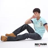 BIG TRAIN 墨達人花間鯉魚小直筒-男-深藍