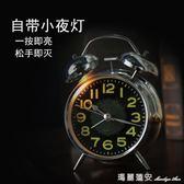 夜光床頭靜音學生鬧鐘創意多功能簡約數字時鐘臥室兒童小鬧鐘鬧錶限時特惠