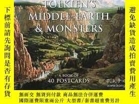 二手書博民逛書店Tolkien s罕見Middle-earth And Monsters Postcard BookY3646