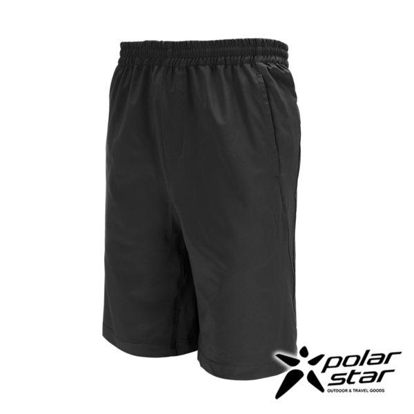 PolarStar 中性 抗UV排汗彈性短褲『黑』P17323 男女西裝褲│休閒褲│吸濕排汗│直筒褲│大尺碼3L