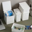 【2個裝】抽屜整理小盒子塑料帶蓋桌面雜物收納盒子【古怪舍】