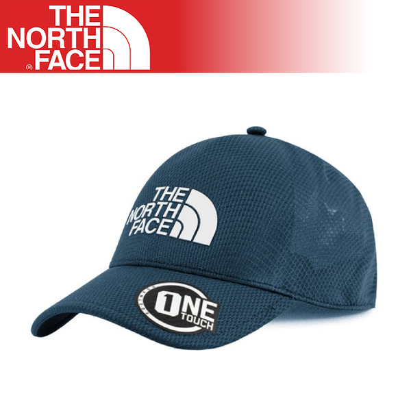 【The North Face One Touch 透氣棒球帽《蔭藍》】3KBS/鴨舌帽/遮陽帽/運動帽/跑步登山