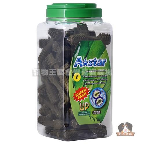 【寵物王國】美國A☆star Bones-多效雙刷頭潔牙骨L-2000g【超大桶】☆新品上市全面嘗鮮價