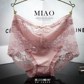 4條性感中高腰內褲女蕾絲中腰薄款女士莫代爾棉無痕夏季大碼胖mm 快速出貨