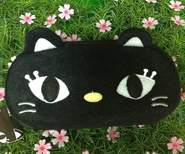 【發現。好貨】日本進口 黑貓絨毛拉鍊筆袋 化妝包 收納包