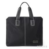 男士商務公事包 橫款手提包 時尚休閒簡約筆電包會議資料袋 CJ6354『寶貝兒童裝』