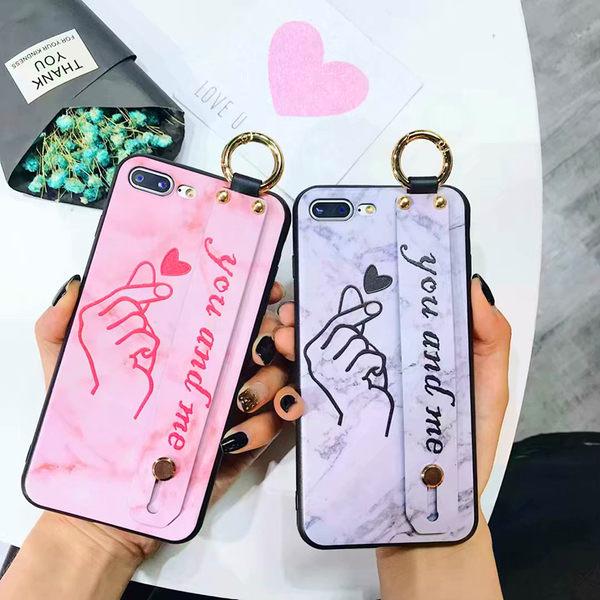【SZ14】iphone xs max 手機殼 愛心手勢腕帶 iphone 8 plus手機殼 iphone 6s plus手機殼xr