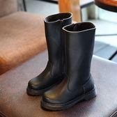 長靴童鞋 女童長靴子中小童鞋韓版兒童棉鞋中高筒靴馬丁靴1-3歲6   傑克型男館