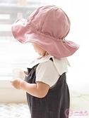 嬰兒帽 嬰兒帽子春秋薄款女童寶寶遮陽帽防曬可愛超萌兒童漁夫帽太陽帽夏